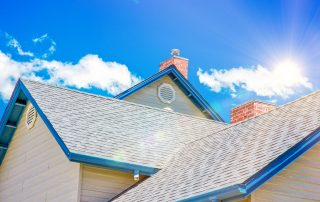 A new roof on a sunny day - roofing contractor Essex MD - Claddagh Construction